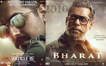 इस वजह से सलमान खान की 'भारत' के साथ दिखाया जायेगा आयुष्मान खुराना की फिल्म 'आर्टिकल 15' का ट्रेलर