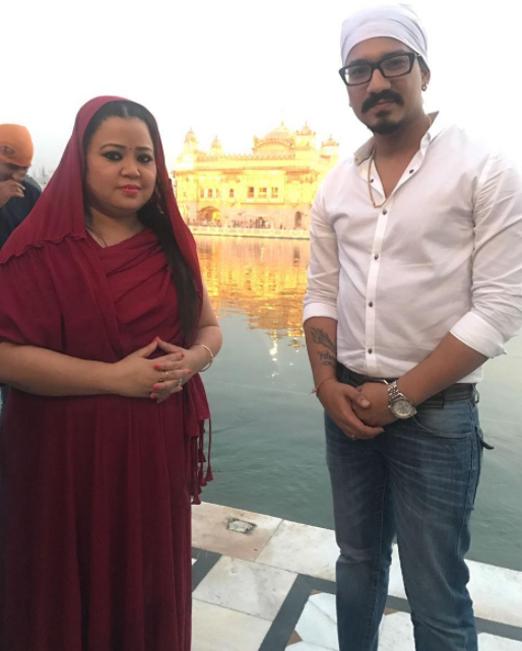 bharti singh and harsh limbachiyaa snapped at golden temple amritsar
