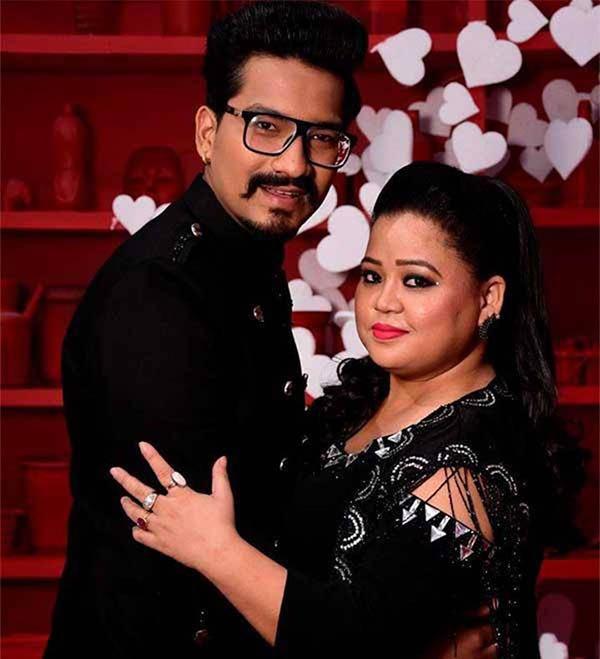 bharti singh with her fiance harsh limbachiyaa