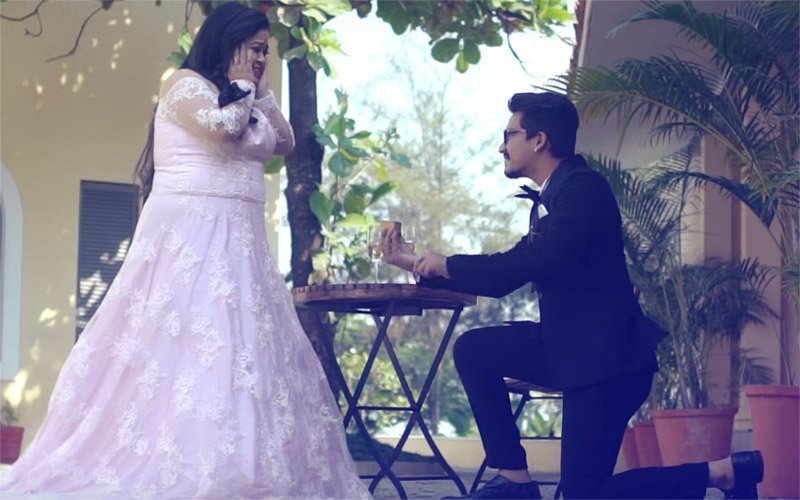 JUST IN: Haarsh PROPOSES To Bharti With A GULABJAMUN In Their Pre-Wedding Video