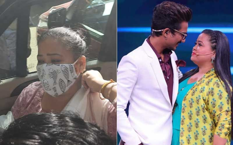 Bharti Singh Arrives With Husband Haarsh Limbachiyaa At NCB Office For Questioning – VISUAL HERE
