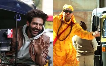 Bhool Bhulaiyaa 2: Kartik Aaryan Drives An E-Rickshaw; We're Taken Back To Akshay Kumar's Auto Entry Scene-WATCH