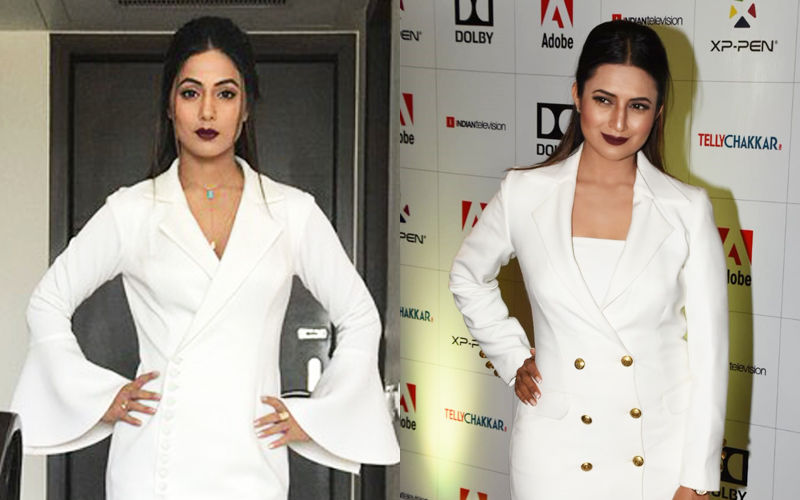 Hina Khan's White Blazer Dress Look Replicated By Divyanka Tripathi But Who Wore It Better?