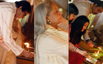 Precious INSIDE PICS From Bachchans' Diwali Pooja At Jalsa: Amitabh Bachchan Offers Prayers With Aaradhya; Aishwarya-Abhishek Bachchan Join In