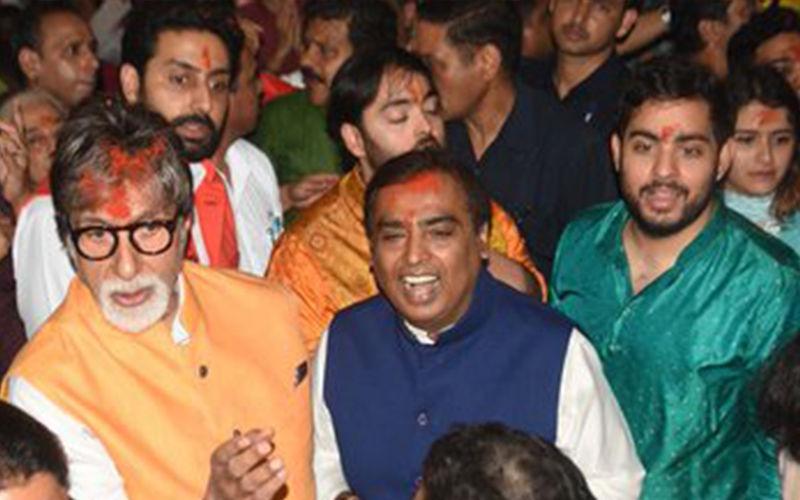 Ganeshotsav 2019: Amitabh Bachchan, Abhishek Bachchan, Mukesh Ambani And Sons Offer Prayers At Lalbaugcha Raja