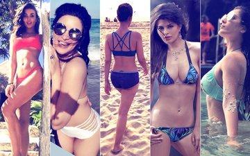 BIKINI BABES: Amy Jackson, Shama Sikander, Nimrat Kaur, Jacqueline Fernandez & Puja Banerjee Don The SEXY Two-Piece