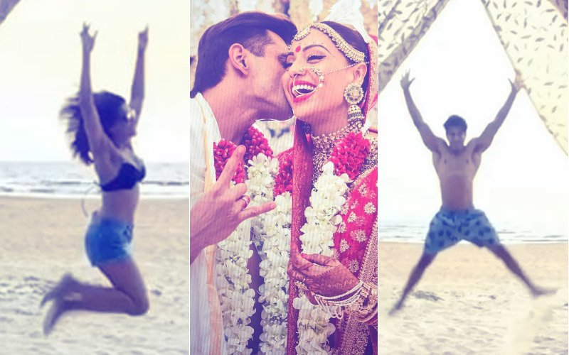 Bipasha Basu & Karan Singh Grover Hit The Beach To Begin First Wedding Anniversary Celebrations