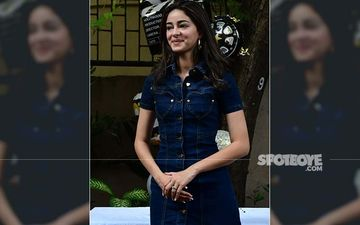 Birthday Girl Ananya Panday Celebrates Her Special Day With Media, Actress Rocks It In A Denim Dress