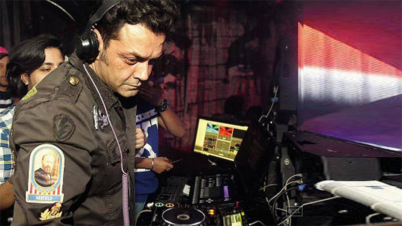 bobby deol performing at a club