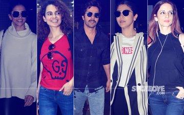 Airport Diaries: Deepika Padukone, Kangana Ranaut, Anushka Sharma, Varun Dhawan, Sussanne Khan's Head-Turning Looks