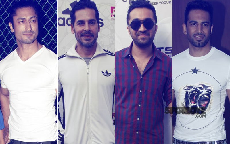 Vidyut Jammwal, Dino Morea, Siddhanth Kapoor & Upen Patel Step Out To Promote Football
