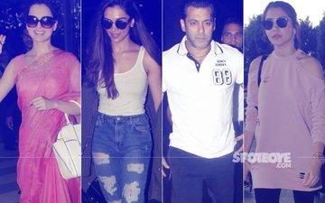 SPOTTED:  Kangana Ranaut, Deepika Padukone, Salman Khan, Anushka Sharma & Co. Keep The Airport Buzzing
