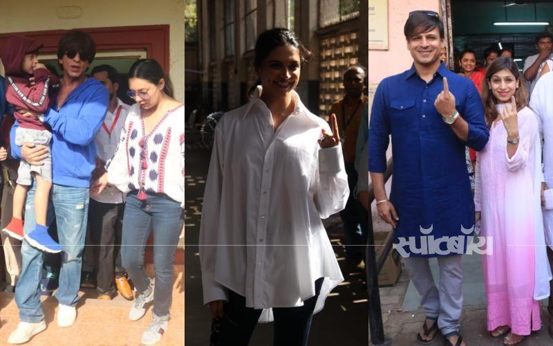 Lok Sabha Election 2019: शाहरुख खान, सलमान खान, विवेक ओबेरॉय और दीपिका पादुकोण  समेत कई बड़े सेलेब्स ने किया मतदान
