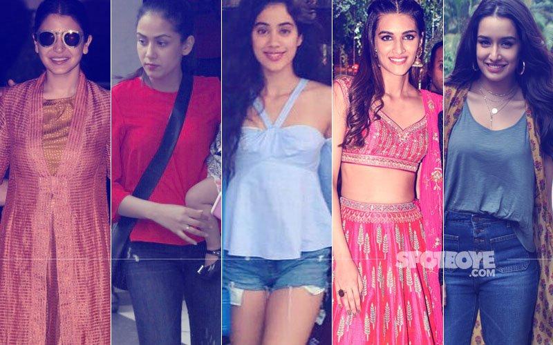 STUNNER OR BUMMER: Anushka Sharma, Mira Rajput, Jhanvi Kapoor, Kriti Sanon Or Shraddha Kapoor?