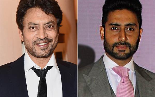 bollywood stars irrfan khan and abhishek bachchan