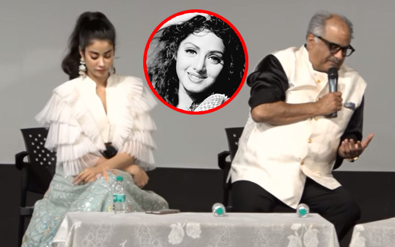 Boney Kapoor Gets Emotional Talking About Sridevi; Janhvi Kapoor Reads A Self-Written Poem For Mom