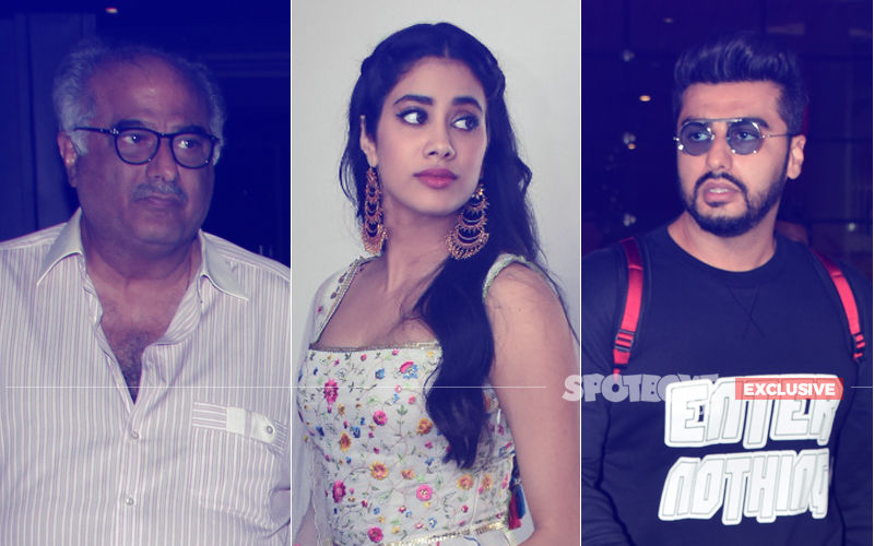 Janhvi Kapoor Breaks Down As Arjun Bhaiya & Dad, Boney, Hug Her After Dhadak Screening