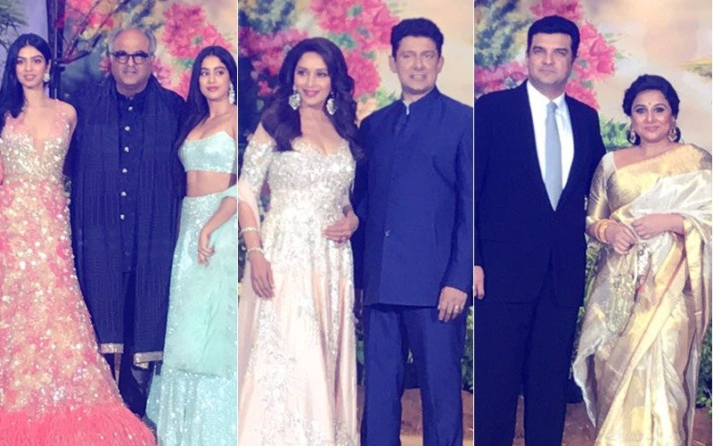 Sonam Kapoor Reception: Janhvi, Khushi, Madhuri & Vidya Reach The Leela