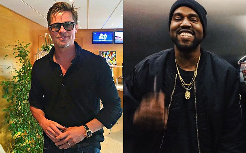 Brad Pitt Makes A Special Appearance At Kanye West's Sunday Service In California Also Attended By Kardashian Sisters- VIDEO