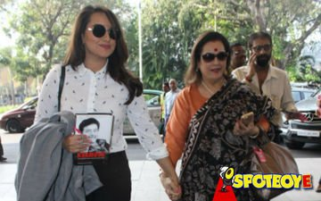 Sonakshi back home after launching dad's book