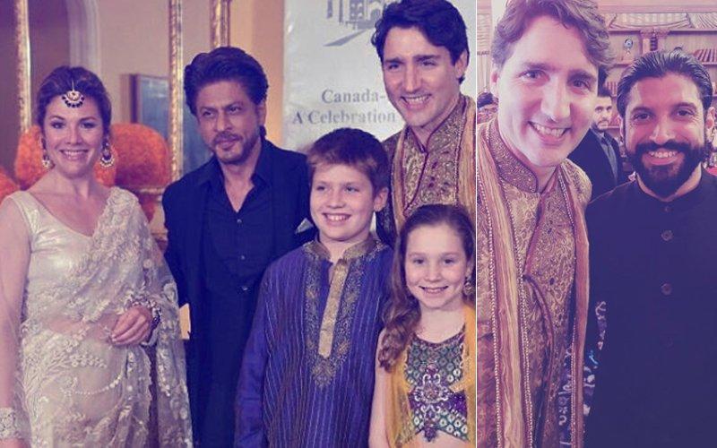 PICS: Shah Rukh Khan & Farhan Akhtar Meet Canadian PM Justin Trudeau