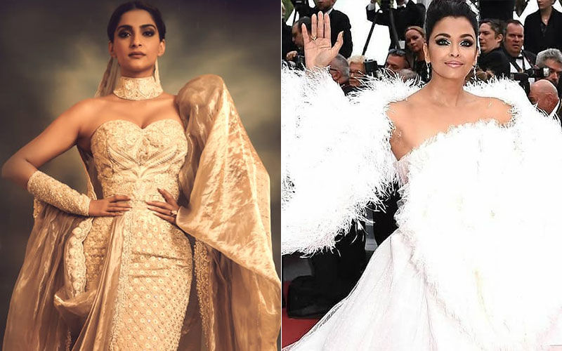 Cannes 2019: Sonam Kapoor's Saree-Gown Or Aishwarya Rai Bachchan's White Feathered Game?