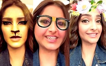 Check out the different shades of Sonam on Snapchat