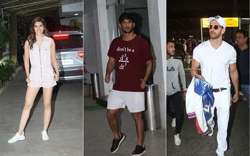Celeb Spotting: Exes Kriti Sanon- Sushant Singh Rajput Papped In Juhu, Hrithik Roshan Snapped At Airport