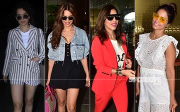 Celeb Spotting: Kangana Ranaut, Kriti Kharbanda, Sophie Choudry And Hina Khan Head Out In Style