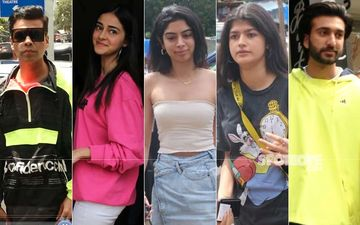 Celeb Spotting: Karan Johar, Ananya Panday, Meezaan, Khushi Kapoor And Anjali Dhawan Head Out For Lunch In Bandra