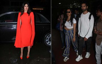 Celeb Spotting: Priyanka Chopra Puts Up A Stunning Appearance, Shahid-Kiara Set Off For Kabir Singh Promotions