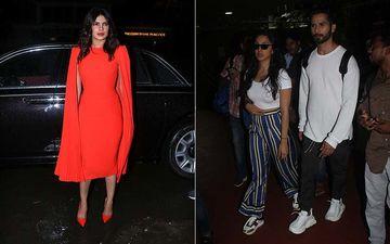 Celeb Spotting: Priyanka Chopra Puts Up A Stunning Appearance, Shahid-Kiara Set Off For Kabir Singh Promotions