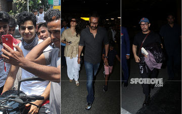 Celeb Spottings: Ishaan Khatter Indulged His Fans With Selfies, Aamir Khan, Ajay Devgn-Kajol Snapped At The Airport
