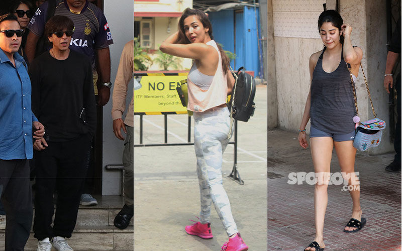 Celeb Spottings: Shah Rukh Khan Returns To Mumbai After IPL Match, Malaika Arora Papped Post Her Regular Workout Session