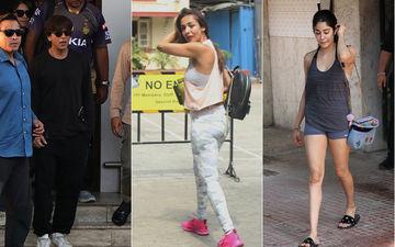 IPL मैच के बाद मुंबई लौटे शाहरुख खान, मलाइका अरोड़ा को वर्कआउट सेशन के बाद किया गया क्लिक
