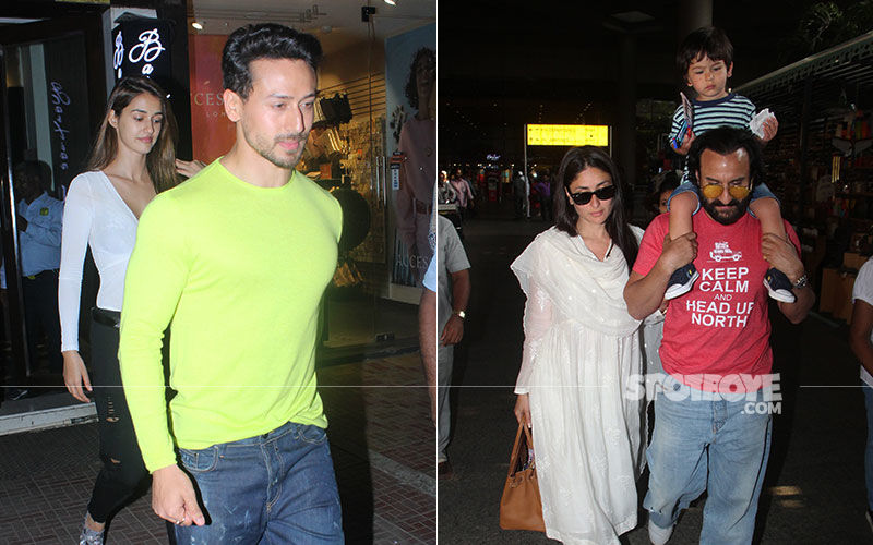 Celeb Spottings: Tiger-Disha's Dinner Date Done Right; Taimur Is A Sight To Behold As He Sits Proudly On Dad Saif's Shoulders