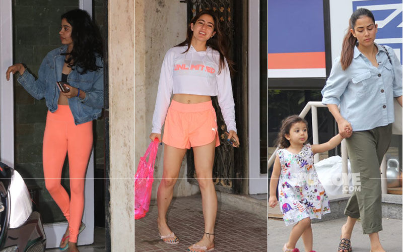 Celeb Spottings: Sara Ali Khan, Mira Rajput, Janhvi Kapoor Look As Fit As A Fiddle