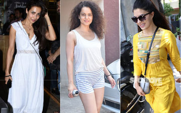 Celeb Spottings: Malaika Arora Is A Vision In White, Kangana Ranaut Looks Super Fresh Post Workout, Jacqueline Fernandez Looks Pretty In Ethnic