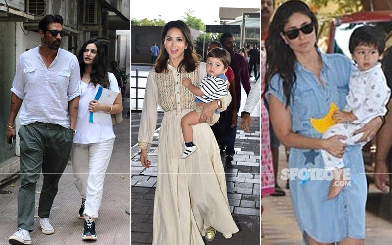 Celeb Spottings: Kareena Kapoor Picks Taimur From School, Arjun Rampal Papped With Girlfriend Outside Clinic, Sunny Leone Spotted With Son Asher