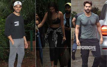 Siddharth Malhotra, Tara Sutaria and Varun Dhawan Snapped After Dance Sessions