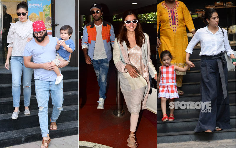 Celeb Spottings: Ranbir-Alia Return From Their European Holiday; Taimur Enjoys His Ice Cream As He's Accompanied By Saif-Kareena