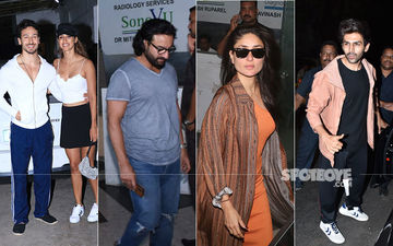 Celeb Spottings: Tiger-Disha Twin In White, Saif-Kareena Clicked Sans Taimur, Kartik Aaryan Clicks Selfie With Female Fans