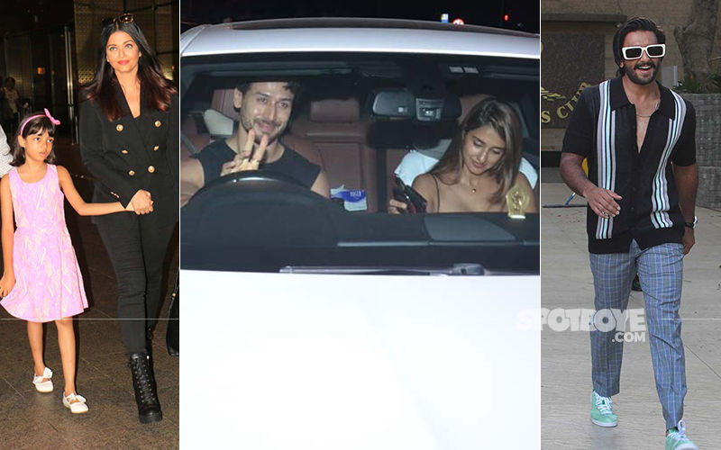 Celeb Spottings: Aishwarya Rai Is Back From Cannes, Tiger-Disha Continue Twinning On Their Date, Ranveer Singh Is In His Element
