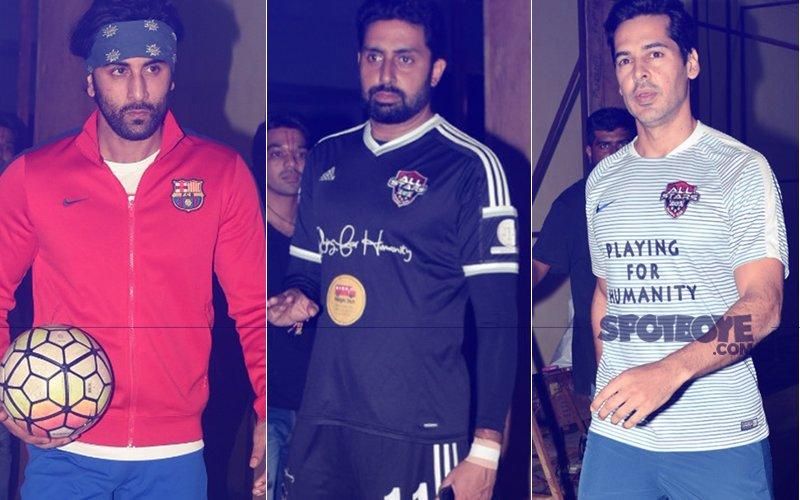 Ranbir Kapoor, Abhishek Bachchan, Dino Morea Practice Football Ahead Of Celebrity Clasico