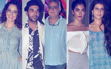 Kangana Ranaut, Rajkummar Rao, Hansal Mehta, Pooja Hegde & Fatima Sana Shaikh Make A Glamorous Appearance At Simran's Screening