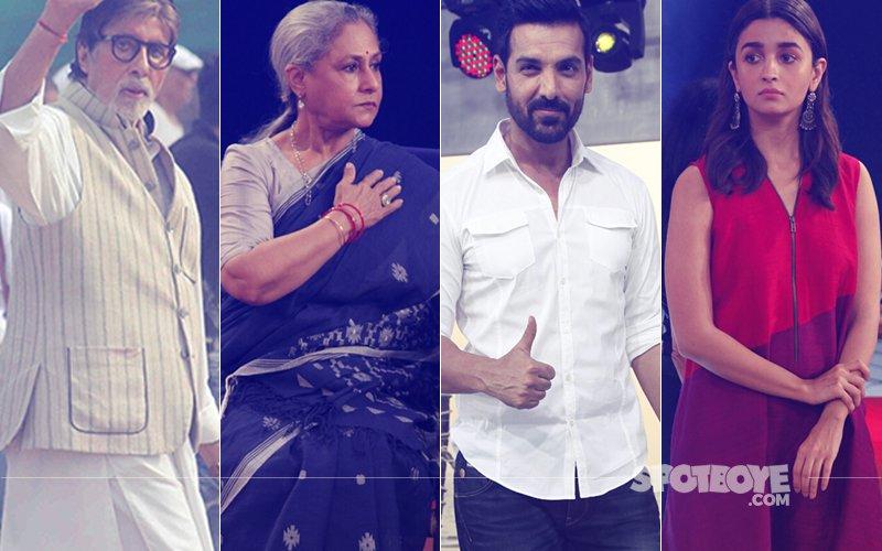 Amitabh Bachchan, Jaya Bachchan, John Abraham & Alia Bhatt At Swachha India Campaign