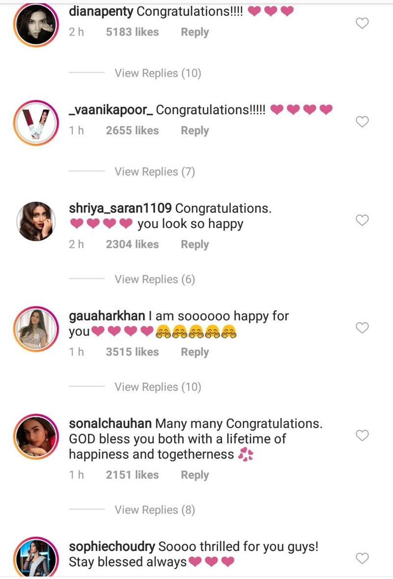 celebs wishing priyanka chopra on her engagement 4