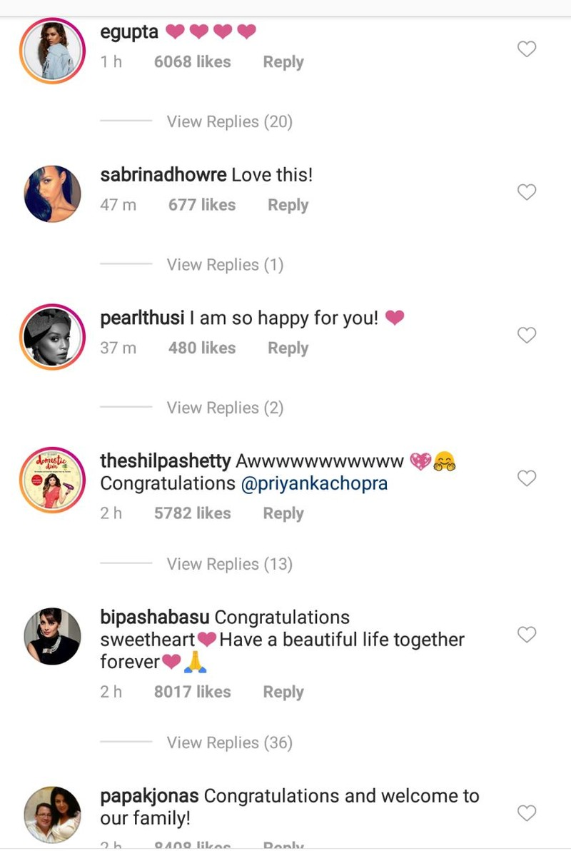 celebs wishing priyanka chopra on her engagement 5