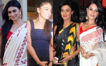 A Bevy of Beauties -- Mouni, Mahhi, Rati, Anita -- at DiVek's Reception