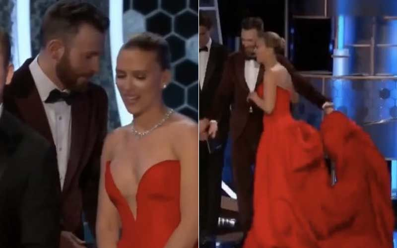 Chris Evans And Scarlett Share A Moment At Golden Globes; Fans Can't Get Over Captain America And Black Widow